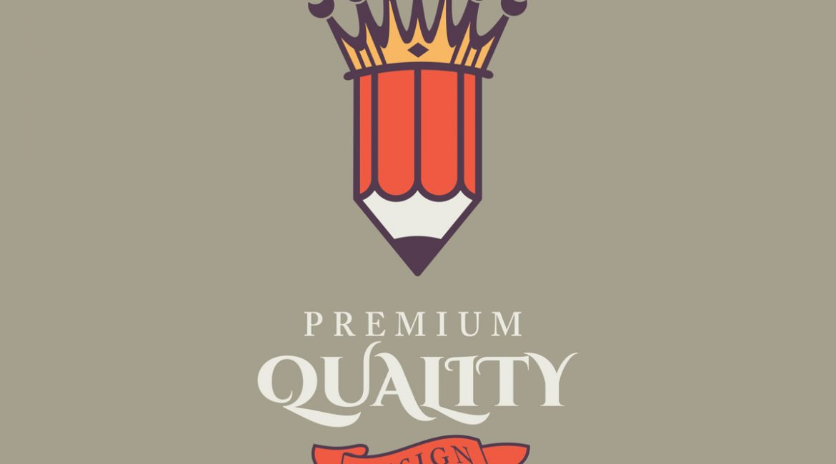 King pencil illustration vector